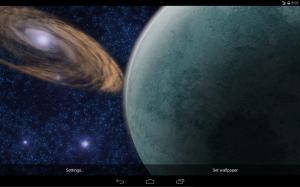 Screenshot of the Rotating Planet Live Wallpaper
