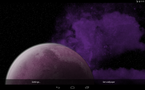 Screenshot of the Rotating Planet Live Wallpaper