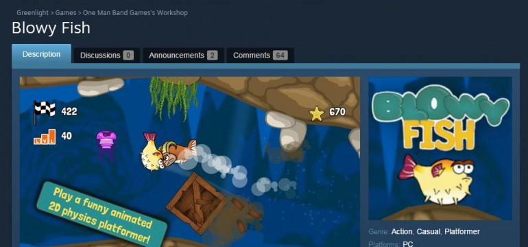 Blowy Fish coming to Steam